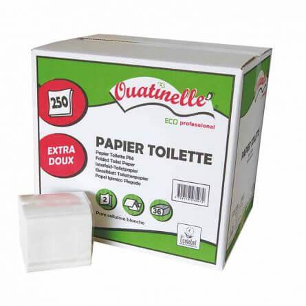 Papier toilette enchevêtré en paquets de 250 Feuilles