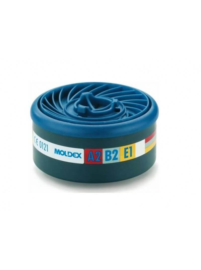 Sachet de 2 cartouches anti-gaz A2B2E1 Easy Lock pour masque respiratoire Moldex