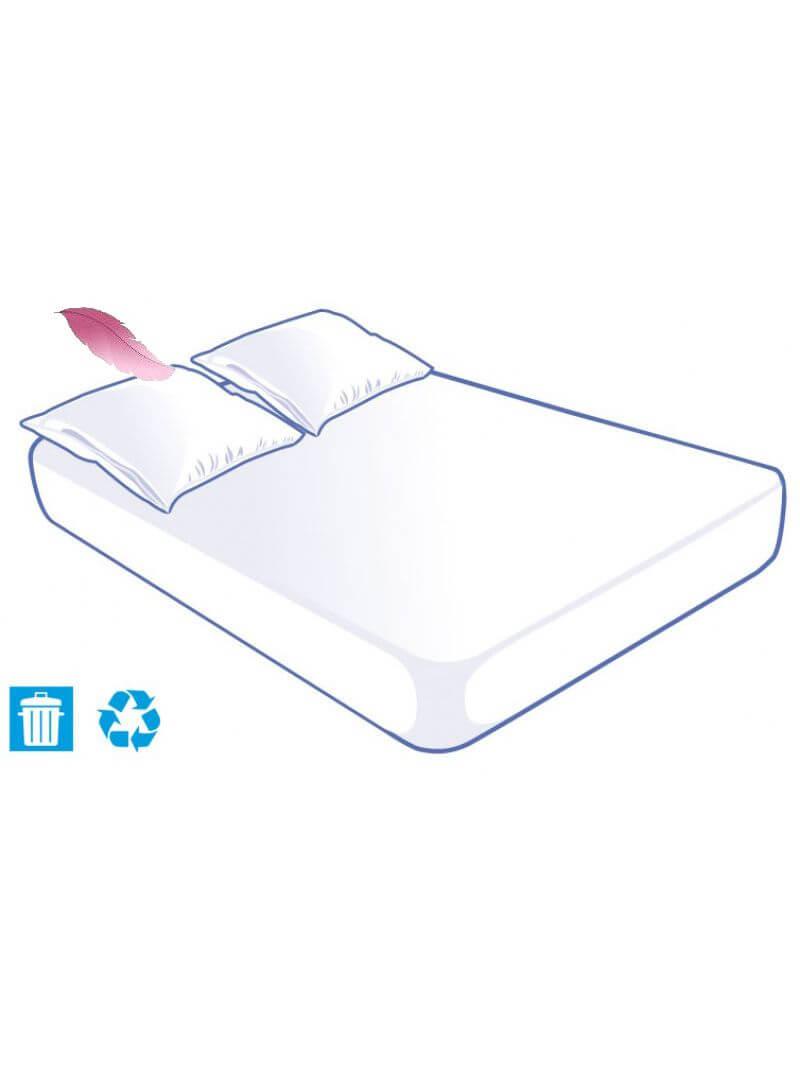 Kit literie jetable soft touch pour lit 2 places 140x190cm