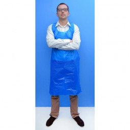 Tablier jetable bleu 80x120cm 50µm 1
