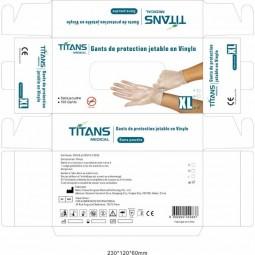Boite gants jetables vinyles blancs