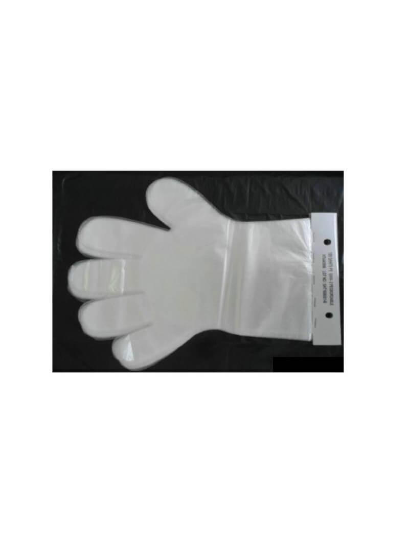 Gants Polyéthylène Transparent sur Cartonnette XL