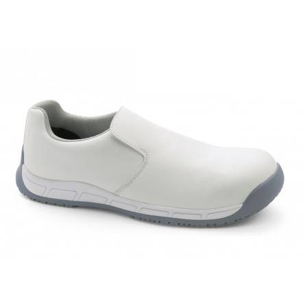 Chaussure de sécurité blanches sans lacet homme MILK EVO S3
