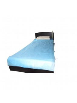 Drap plat jetable bleu 90*200 cm