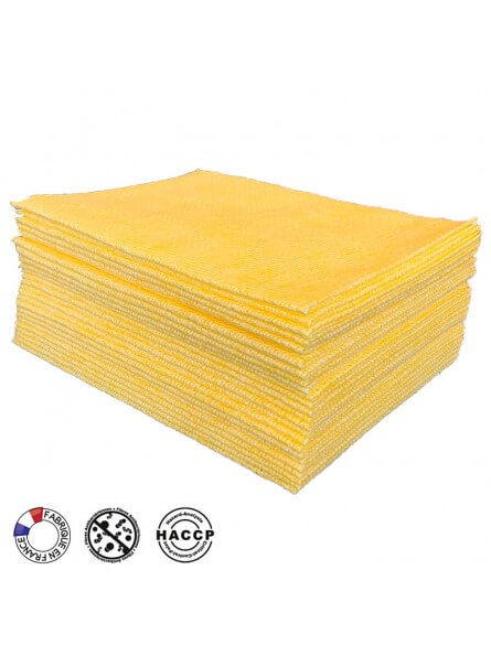 Sachet de 25 lavettes BioTiss jaunes