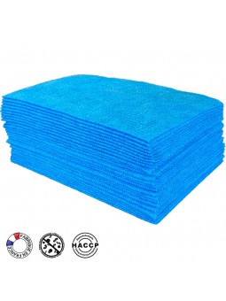 Sachet de 25 lavettes BioTiss bleues