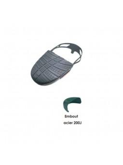 Lot de 5 paires d'embouts visiteurs pour protection pieds 3 tailles noir embout acier