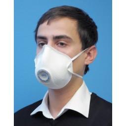 Avant du masque de protection FFP3 coque avec soupape MOLDEX