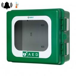 Armoire pour défibrillateur PAD avec chauffage et alarme