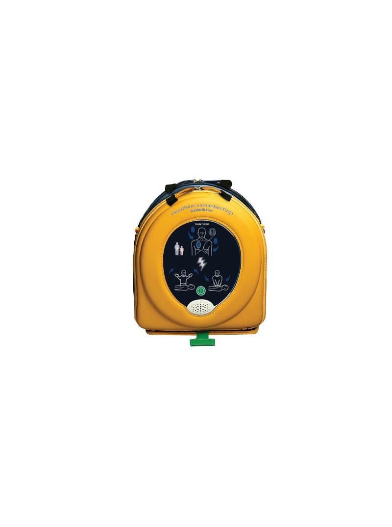 Défibrillateur Samaritan 360P dans son étui jaune