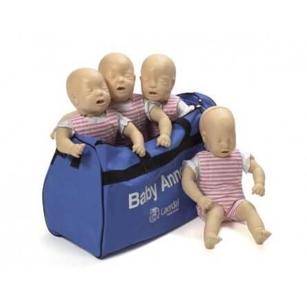 Mannequins Baby Anne LAERDAL en lot de 4 avec sac de transport (prorisk)