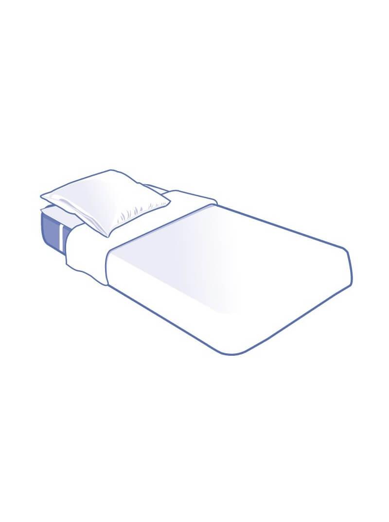 Kit literie jetable complet plateau pour lit 1 place 90x190cm