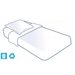 Kit literie jetable housse complet (alèse + taie + drap) pour lit 1 place 90x190cm