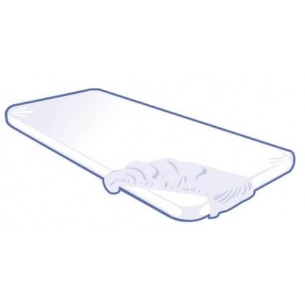 Housse jetable de table d'examen et brancard blanc 200x70x13cm