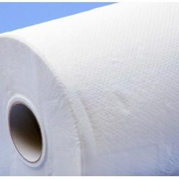Zoom matière drap d'examen gaufré blanc Ecolabel