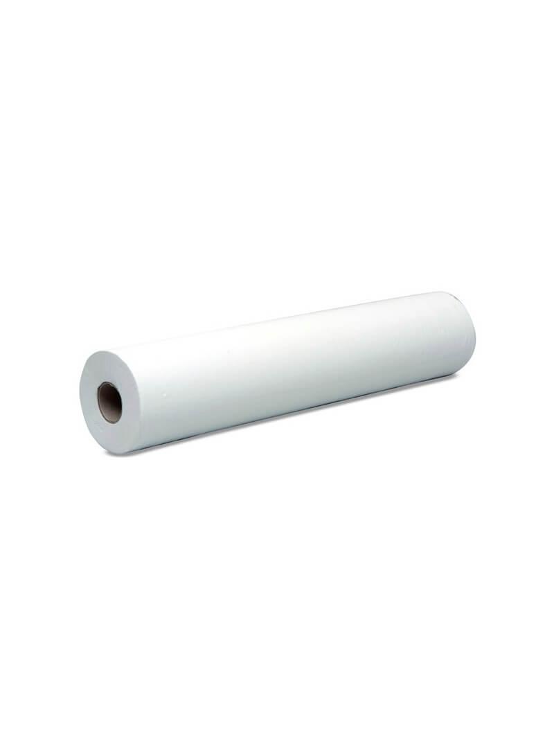 1 rouleau de drap d'examen double épaisseur lisse blanc 50x190cm prédécoupe longue